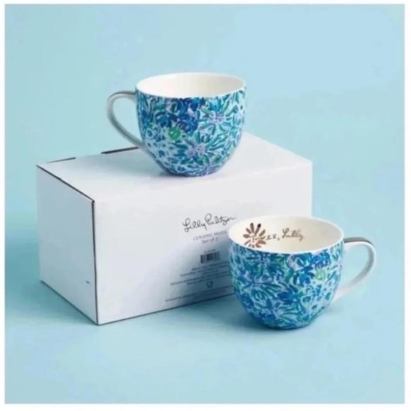 Lilly Pulitzer Ceramic Mugs Set of 2